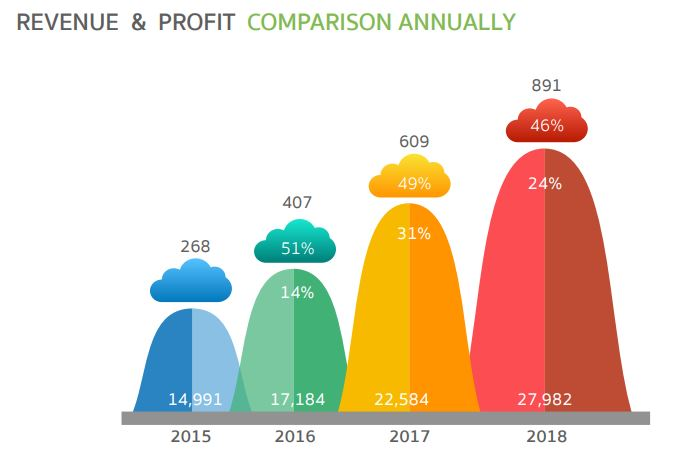 COM7-Revenue and profit camparison annually