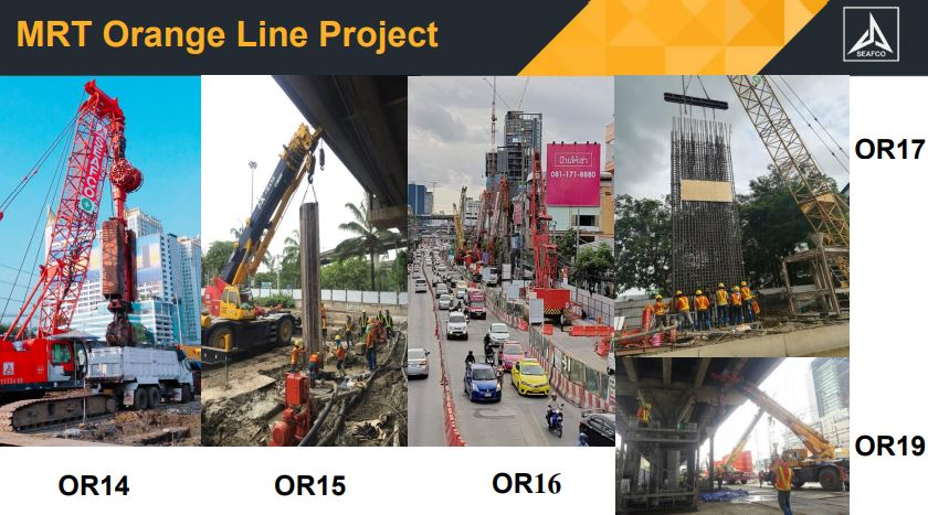 หุ้น SEAFCO-MRT Orange Line Project