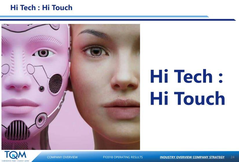 หุ้น TQM - Hi Tech Hi Touch